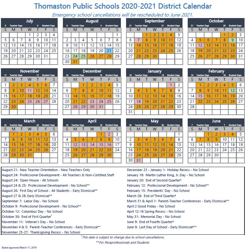 Connecticut School Calendar 2021-2022 Photos